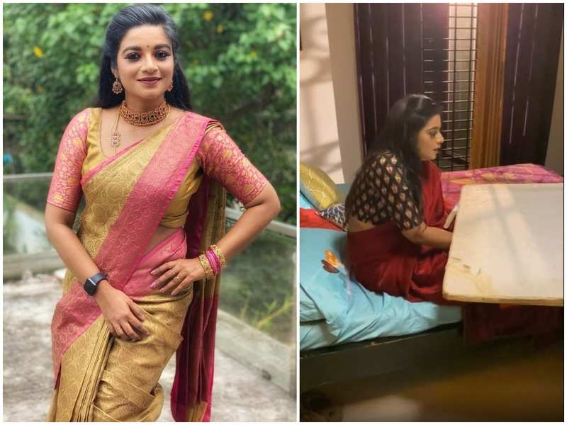 Rakkuyil actress Apsara shares a BTS video of the snake bite sequence from the show; watch