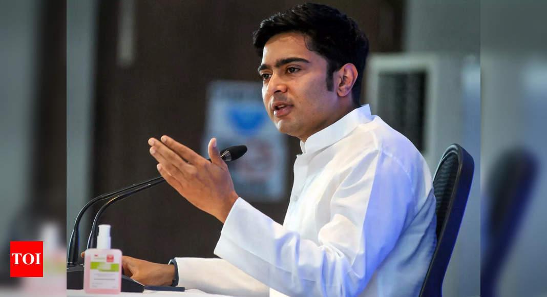 Mamata's nephew Abhishek Banerjee faces BJP protest in Tripura