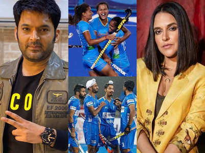 TV celebs congratulate Indian hockey teams