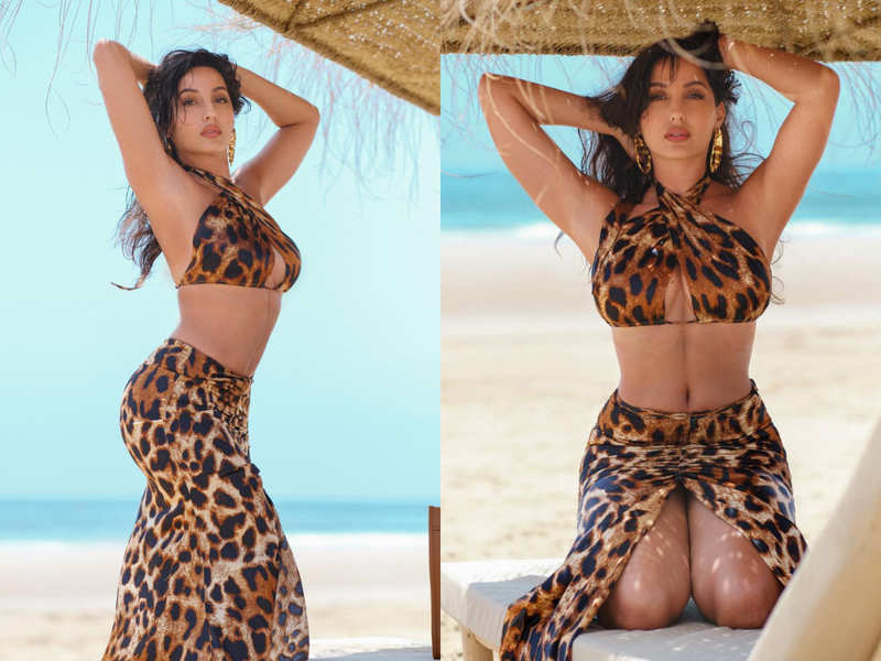 Nora Fatehi's sultry animal print co-ord set