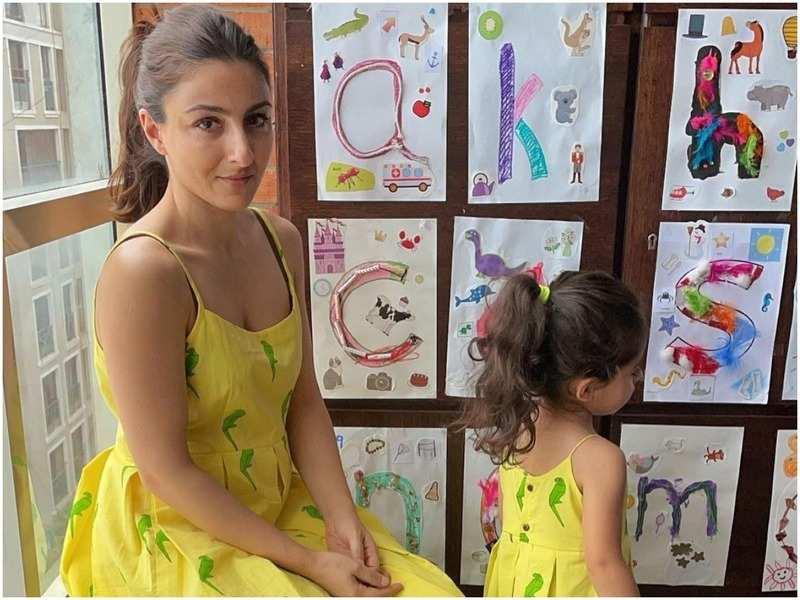 Soha Ali Khan with daughter Inaaya Naumi Kemmu (Pic: Instagram.com/@sakpataudi)