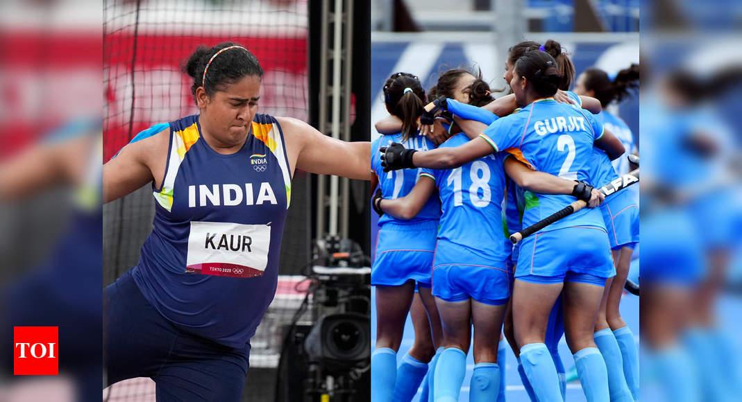 Indian Women hockey team in maiden Olympic semis; discus thrower Kamalpreet Kaur impresses | Tokyo Olympics News – Times of India