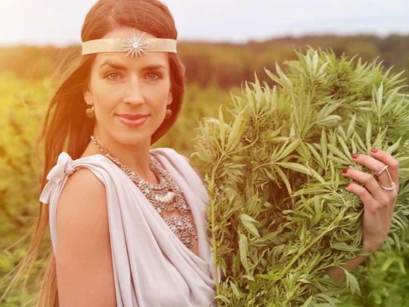 Hair care with Cannabis flower essential oil
