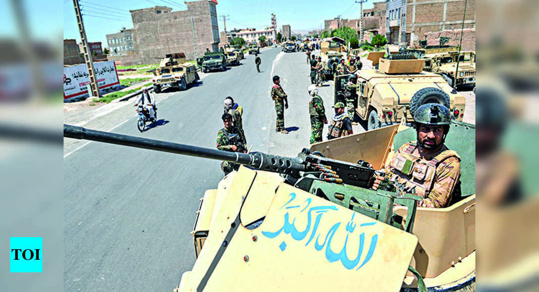Taliban seize Afghan TV office in Lashkargah amid intensified fighting with government forces – Times of India