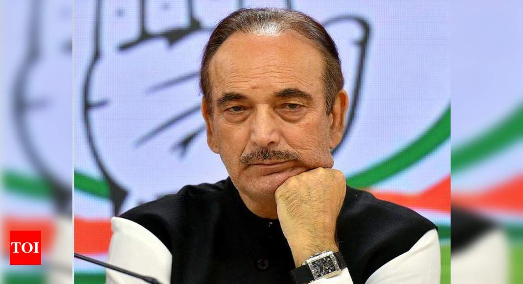 Azad urges Centre to implement its assurance to J&K leaders on statehood in 'short-term' | India News – Times of India