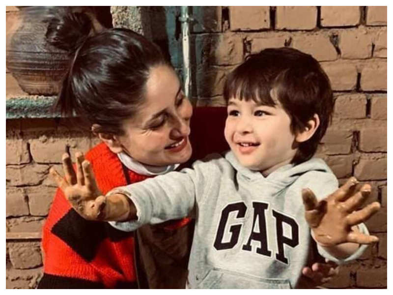 Kareena Kapoor Khan is all hearts for her munchkin Taimur's photo clicked by aunt Saba Ali Khan