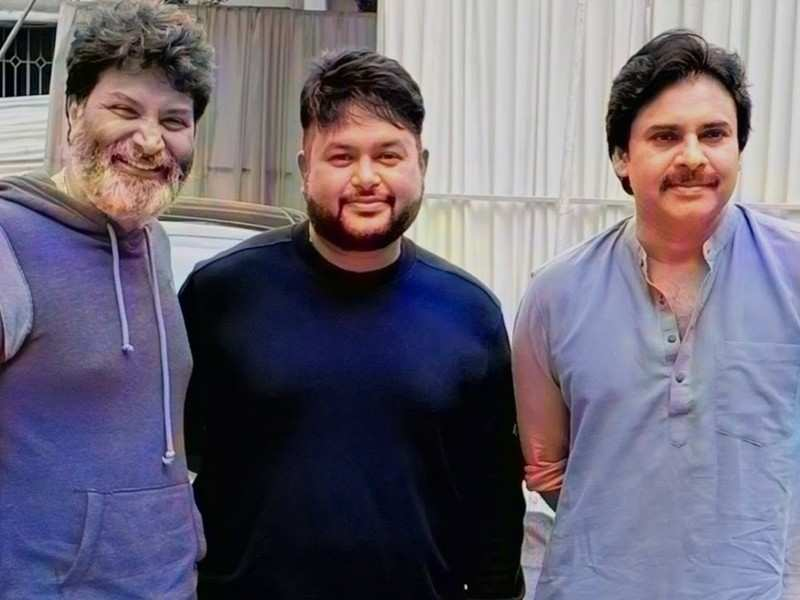 #BehindTheScenes: Thaman shares a rare glimpse of his music session with Pawan Kalyan and Trivikram