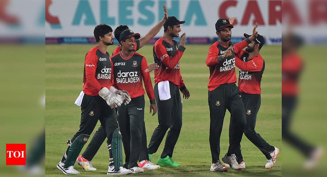 Bangladesh vs Australia T20: Nasum stars as Bangladesh claim first T20I win over Australia | Cricket News – Times of India