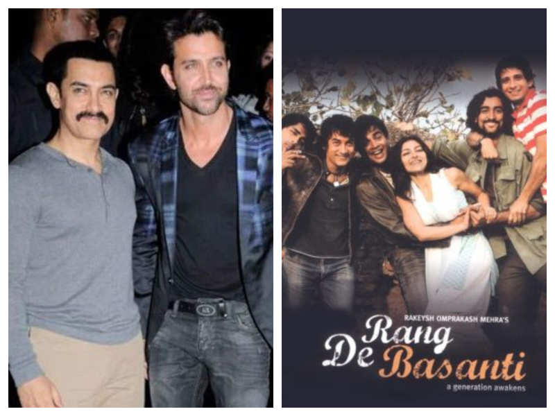Did you know that Aamir Khan visited Hrithik Roshan's house to persuade him for 'Rang De Basanti'?