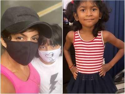 Mandira shares pictures of Vir & Tara
