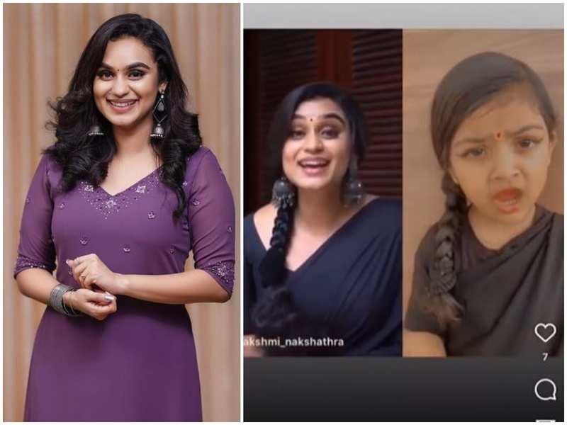 Here's how a 'kutty fan' surprised Lakshmi Nakshathra; watch