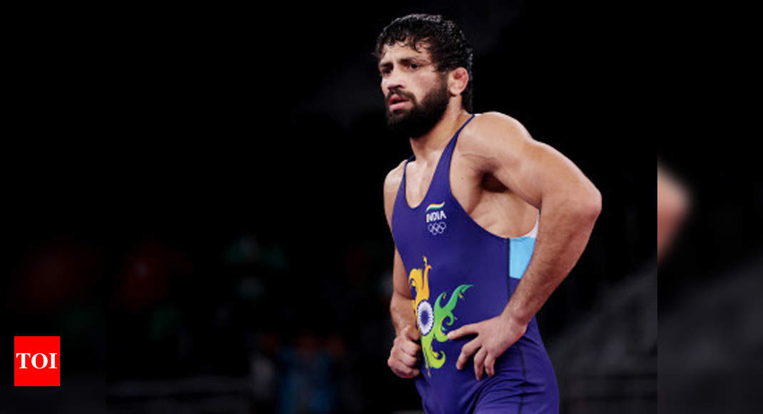 Ravi Dahiya pins Sanayev to storm into Olympic final, assured of at least a silver medal   Tokyo Olympics News – Times of India