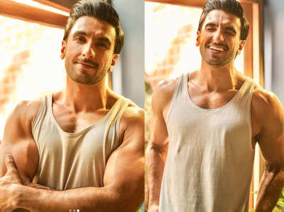 Pics: Ranveer shows off his ripped physique