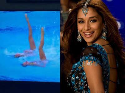 Madhuri 'Aaja Nachle' plays at Olympics