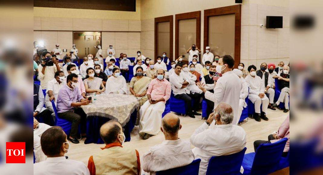 In a show of unity, 14 parties counter govt on Parliament logjam