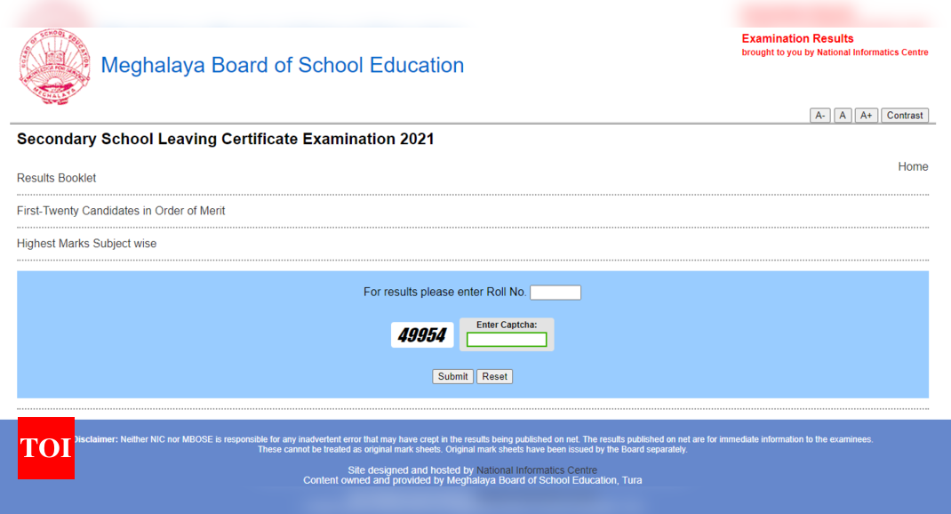 Meghalaya Board SSLC Result 2021 released at megresults.nic.in, here's download link – Times of India