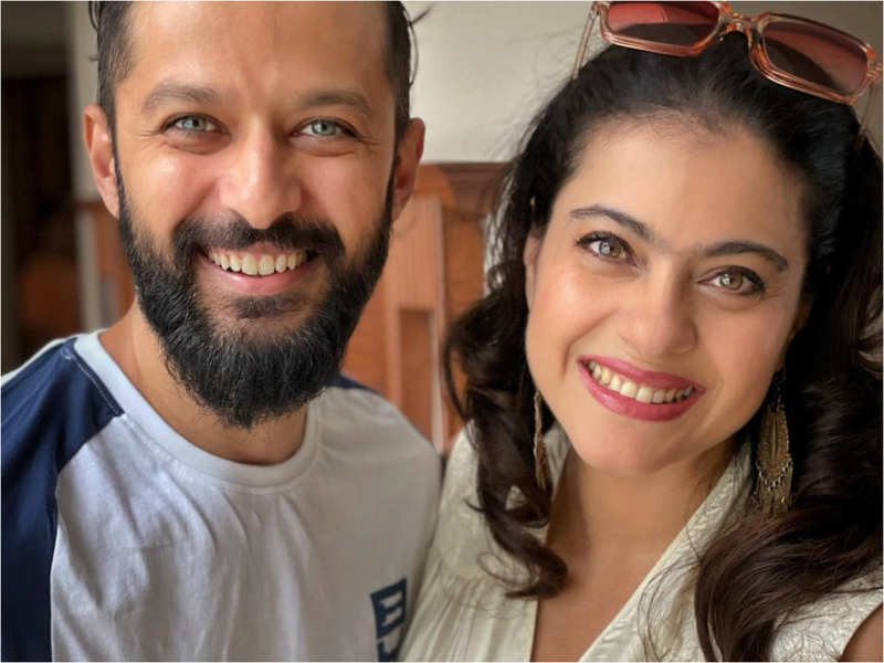 Kajol shares a picture her 'bday partner' Vatsal Sheth sharing the brightest smiles