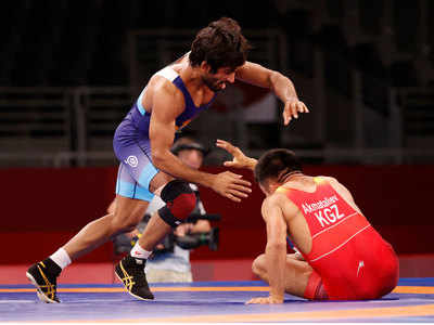 Tokyo Olympics 2020: Bajrang Punia moves to quarterfinal   Tokyo Olympics  News - Times of India