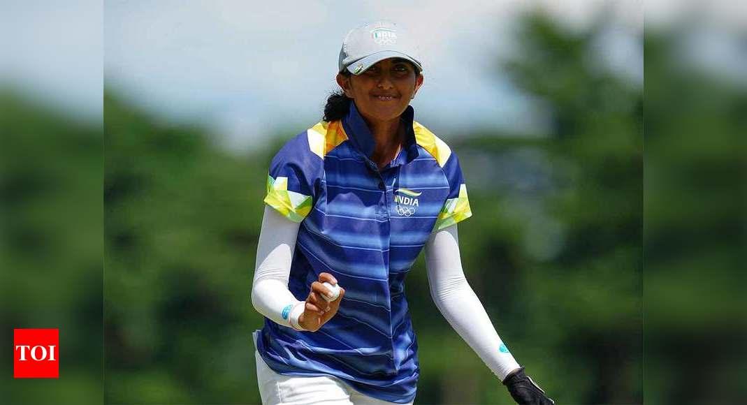 Aditi Ashok Olympics: Aditi Ashok holds second spot after Round 3 | Tokyo Olympics News – Times of India
