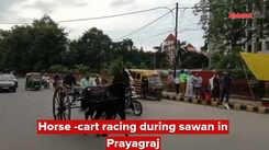 Horse -cart racing during  sawan in Prayagraj