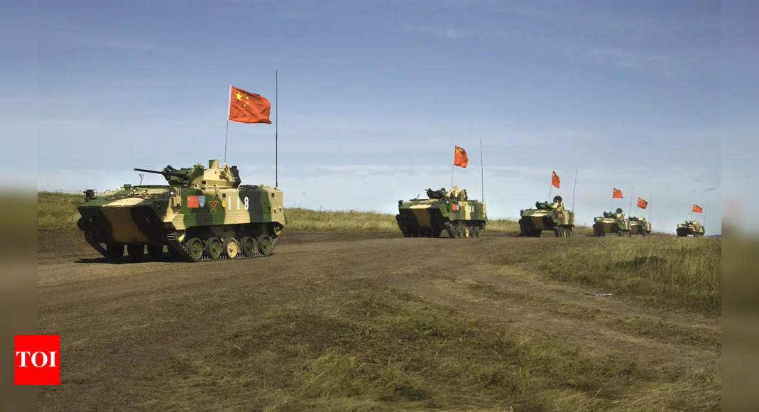 Chinese and Russian military conduct drills in northwest China