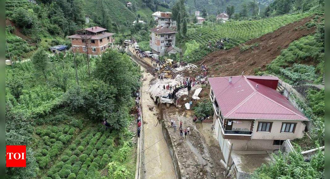 Woman missing after floods and mudslides in northern Turkey – Times of India