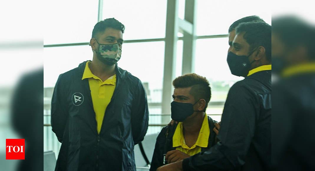 IPL: MS Dhoni-led Chennai Super Kings depart for UAE | Cricket News – Times of India
