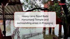 Heavy rains flood Bade Hanumanji Temple and surrounding areas in Prayagraj