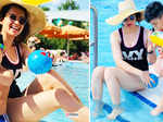 New pictures of Kangana Ranaut enjoying pool time with her nephew go viral