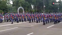 Glimpses from the 75th Independence Day parade at Red Road, Kolkata, today