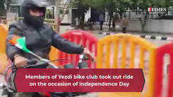 To celebrate 75th Independence Day, a bike ride was held in the main thoroughfares of Bengaluru, take a look