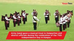Army band performs during Independence day celebrations