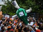 BJP workers hold protest against vandalisation of Maharaja Ranjit Singh's statue in Pakistan