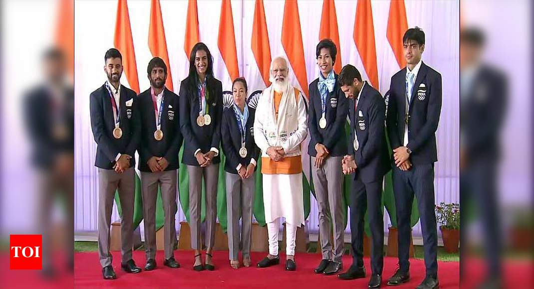 Have you learnt Punjabi, PM asked Sreejesh; praised Mirabai for remembering truck drivers who helped her   Tokyo Olympics News – Times of India