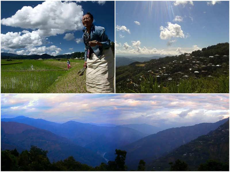 Clockwise: Apatani tribe in Ziro, Lunglei, Mizoram, Kalimpong, West BengalPics: Wikipedia