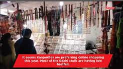Rakhi stalls in Kanpur wait for customers
