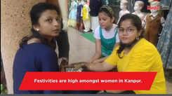 Mehndi artists in demand before Raksha Bandhan in Kanpur