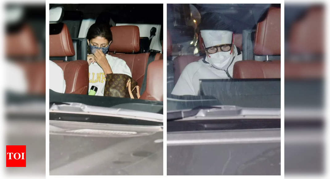 Photos: Amitabh Bachchan and Shweta Bachchan visit Abhishek Bachchan at the hospital after the latter was admitted due to an injury – Times of India ►