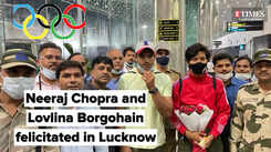 Neeraj Chopra and Lovlina Borgohain felicitated in Lucknow