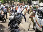 Pictures from clashes between Shiv Sena and BJP wokers in Maharasthra