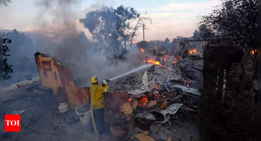 California wildfire dangers may be spreading south thumbnail