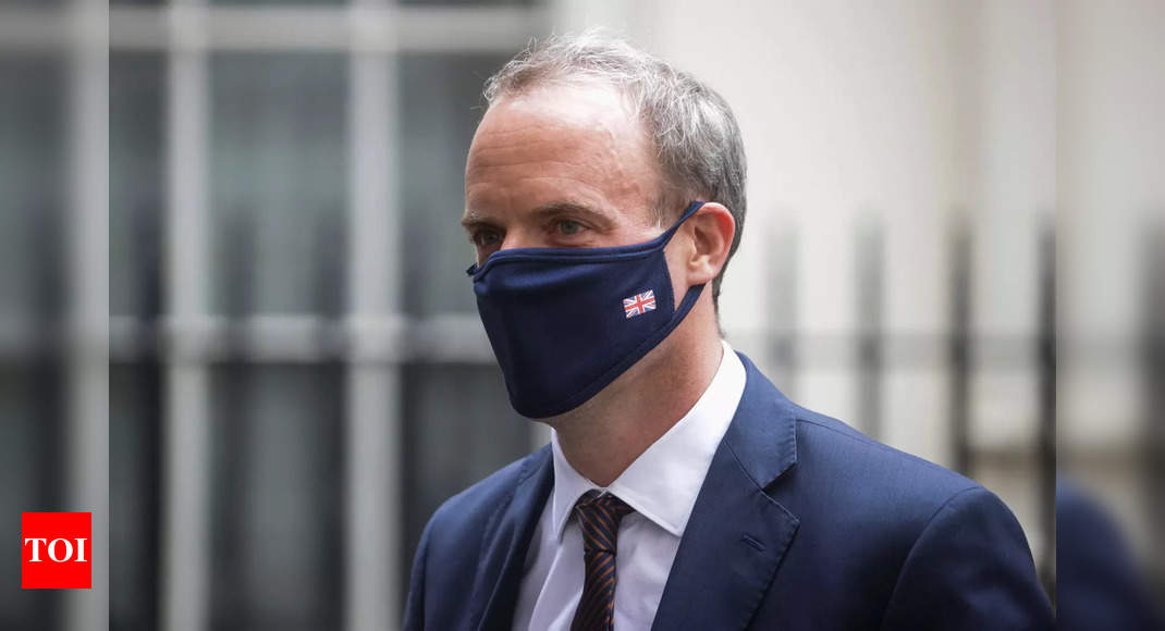 UK foreign secretary Dominic Raab expresses sorrow over loss of US troops in Kabul – Times of India