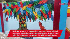 Wall art makes drive along Kanpur colourful