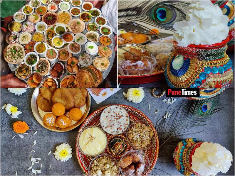 "<p><strong><em><sup>(Clockwise)  '<span class=""il"">Chappan</span> Bhog' — a vegetarian platter comprising 56 signature dishes coming from different parts of the country, that are considered dear to Lord Krishna; Chef Shrunkhala Sharma prepares a mini Janamastami bhog platter comprising dishes like malpua, boondi laddoo, dh<wbr>aniya ki panjiri, shrikhand, <wbr>makhane ki kheer, gur poha, makhan mishri<wbr>, and taler bora </sup></em></strong></p><p><strong><em><sup><br></sup></em></strong></p><p><strong><em><sup>Pics: Shashank Sane</sup></em></strong></p>"