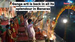 Ganga arti is back in all its splendour in Banaras