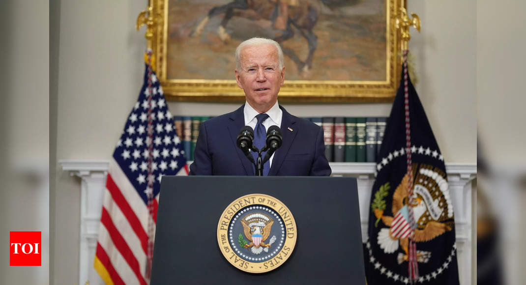 In call before Afghan collapse, Biden pressed Ghani to 'change perception' – Times of India