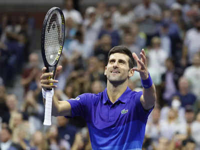 Novak Djokovic Wins At Us Open Moves Five Matches From Calendar Slam Tennis News Times Of India