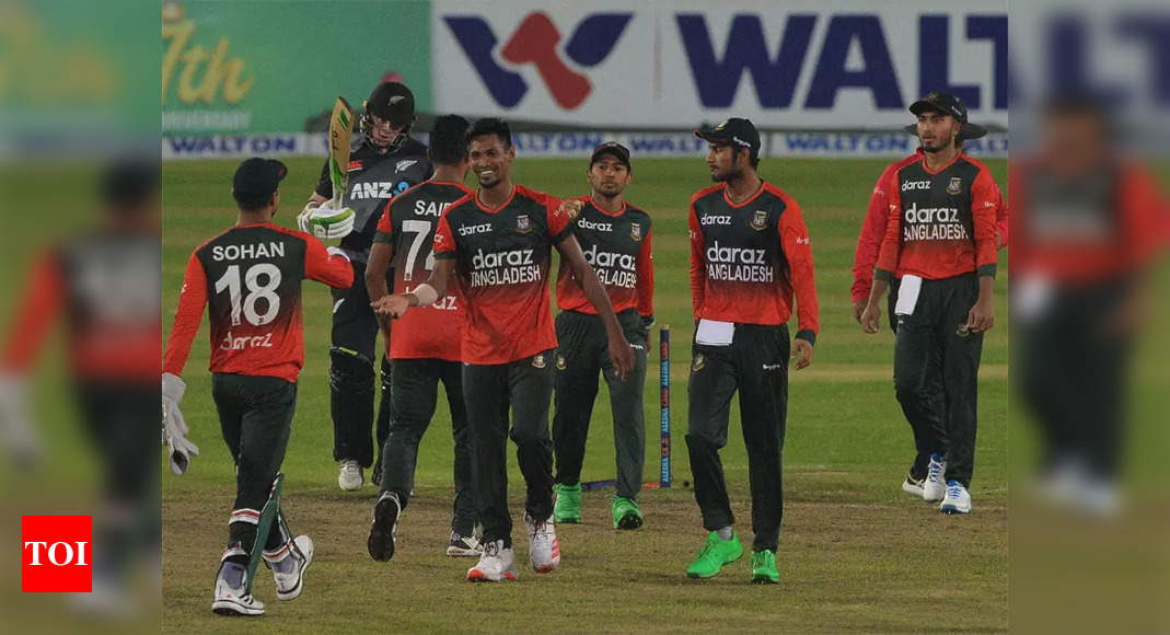 2nd T20I: Bangladesh beat New Zealand despite Latham heroics | Cricket News – Times of India