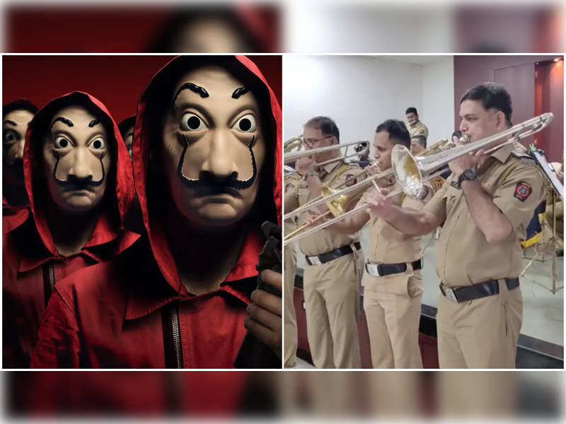 Mumbai Police performs a rendition of the iconic song 'Bella Ciao' as Money Heist releases today