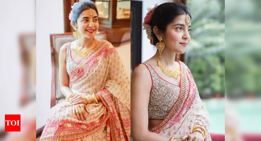 , The bride is winning internet with her sari, The World Live Breaking News Coverage & Updates IN ENGLISH